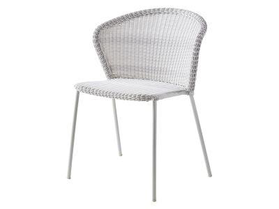 Cane-line LEAN Gartenstuhl weiß-grau, stapelbar