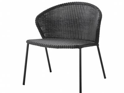 Cane-line LEAN Loungesessel schwarz, stapelbar