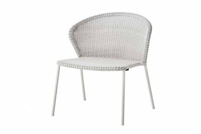 Cane-line LEAN Loungesessel white grey, stapelbar