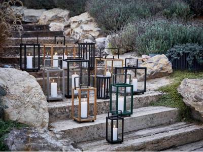 Cane-line Lighthouse Teak Laterne, rechteckig