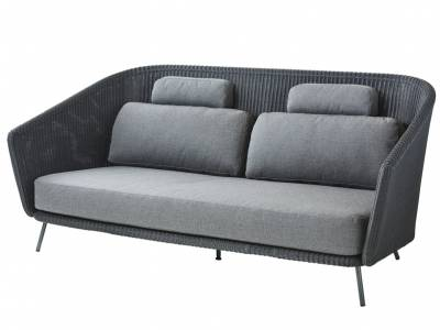 Cane-line Mega 2-Sitzer Lounge Sofa inkl. Kissensatz