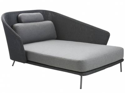 Cane-line Mega Daybed, links, inkl. Kissensatz