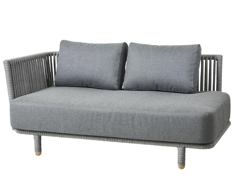 2 sitzer couch seasons outdoor mistral sitzer sofa rechts mit ablage aus teakholz jetzt. Black Bedroom Furniture Sets. Home Design Ideas