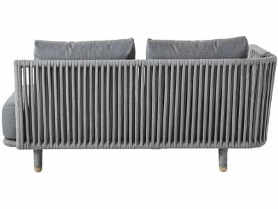 Cane-line MOMENTS 2-Sitzer Sofa Modul, Armlehne rechts, inkl. Kissensatz