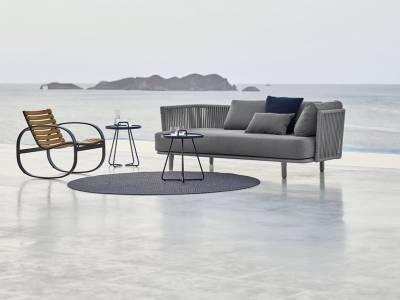 Cane-line MOMENTS 3-Sitzer Sofa, inkl. Kissensatz