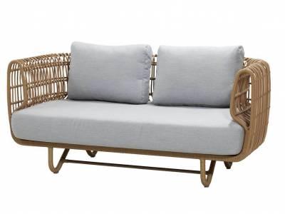 Cane-line Nest 2-Sitzer Sofa OUTDOOR inkl. Cane-line Natté Kissen m/Quickdry Foam