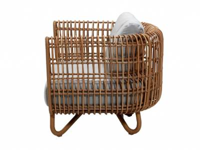 Cane-line Nest Loungesessel OUTDOOR inkl. Cane-line Natté Kissen m/Quickdry Foam