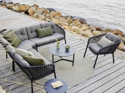 Cane-line Ocean 2-Sitzer Sofa-Modul, rechts, Cane-line Soft Rope