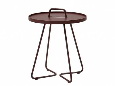 Cane-line On-The-Move Beistelltisch, klein, Bordeaux Red