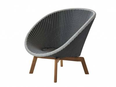 Cane-line Peacock Lounge Sessel m/Teak Beine, Cane-line Weave Grey (5458)