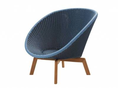 Cane-line Peacock Lounge Sessel m/Teak Beine, Cane-line Weave Midnight (5458)