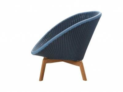 Cane-line Peacock Lounge Sessel m/Teak Beine, Cane-line Weave Midnight (5458)