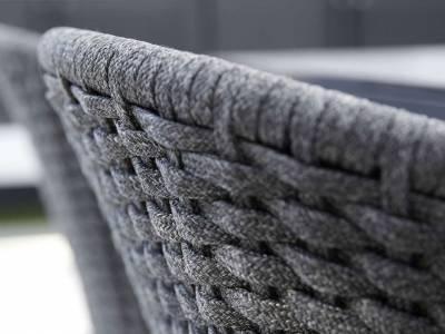 Cane-line Peacock Stuhl, Cane-line Soft Rope Dark Grey (5454)