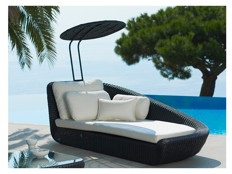 cane line savannah daybed modul rechts schwarz gartenm bel hamburg shop. Black Bedroom Furniture Sets. Home Design Ideas