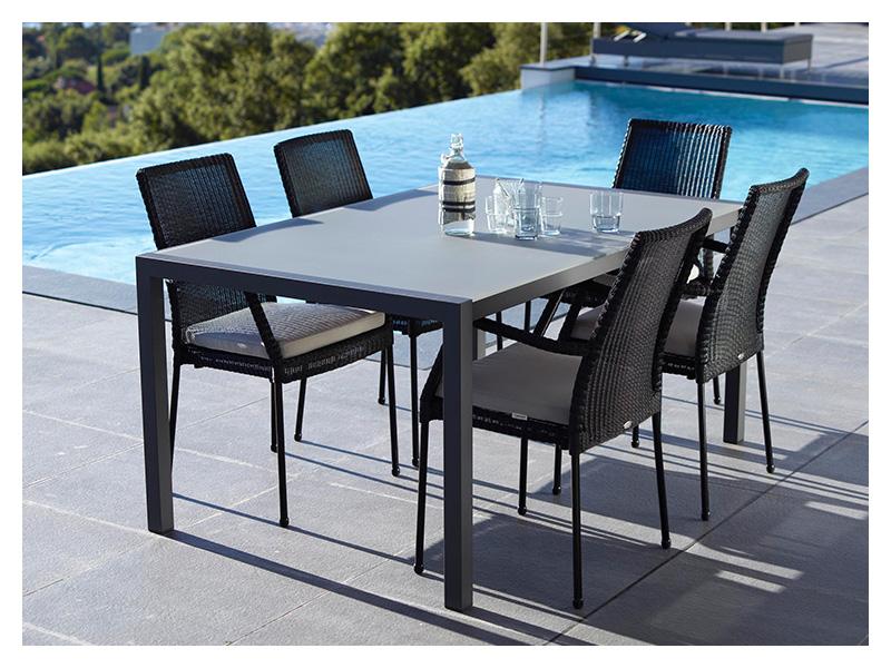 cane line share esstisch aluminium schwarz 160x100 cm. Black Bedroom Furniture Sets. Home Design Ideas
