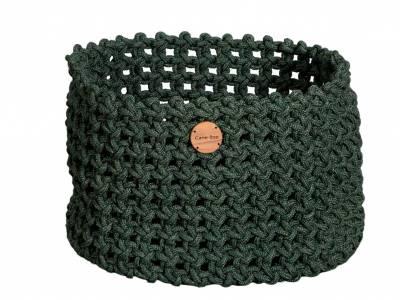 Cane-line Soft Rope Korb groß, dia. 50 cm, Cane-line Soft Rope Dark Green