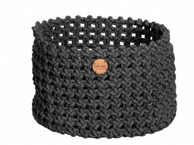 Cane-line Soft Rope Korb groß, dia. 50 cm, Cane-line Soft Rope Dark Grey