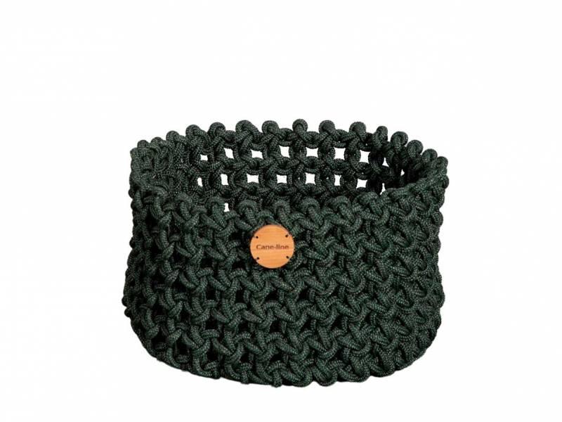 Cane-line Soft Rope Korb medium, dia. 40 cm, Cane-line Soft Rope Dark Green
