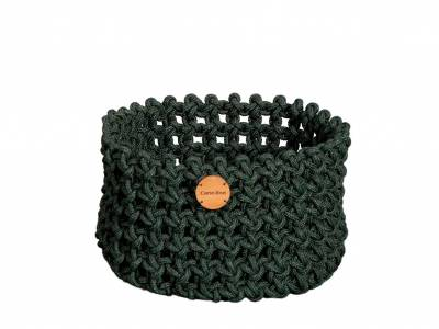 Cane-line Soft Rope Korb medium, dia. 40 cm, Cane-line Soft Rope Dark Green