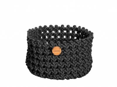 Cane-line Soft Rope Korb medium, dia. 40 cm, Cane-line Soft Rope Dark Grey