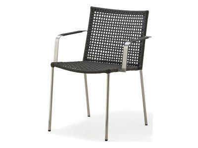 Cane-line Straw Stuhl mit Armlehne, stapelbar