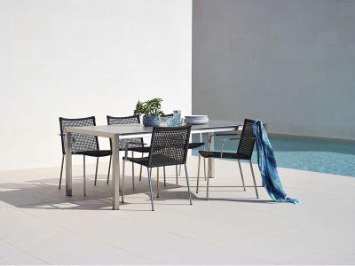 cane line straw stuhl mit armlehne stapelbar. Black Bedroom Furniture Sets. Home Design Ideas