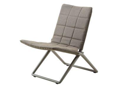 Cane-line Traveller Tex Lounge Stuhl, klappbar, Braun