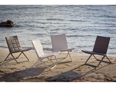 Cane-line Traveller Tex Lounge Stuhl, klappbar, Grau