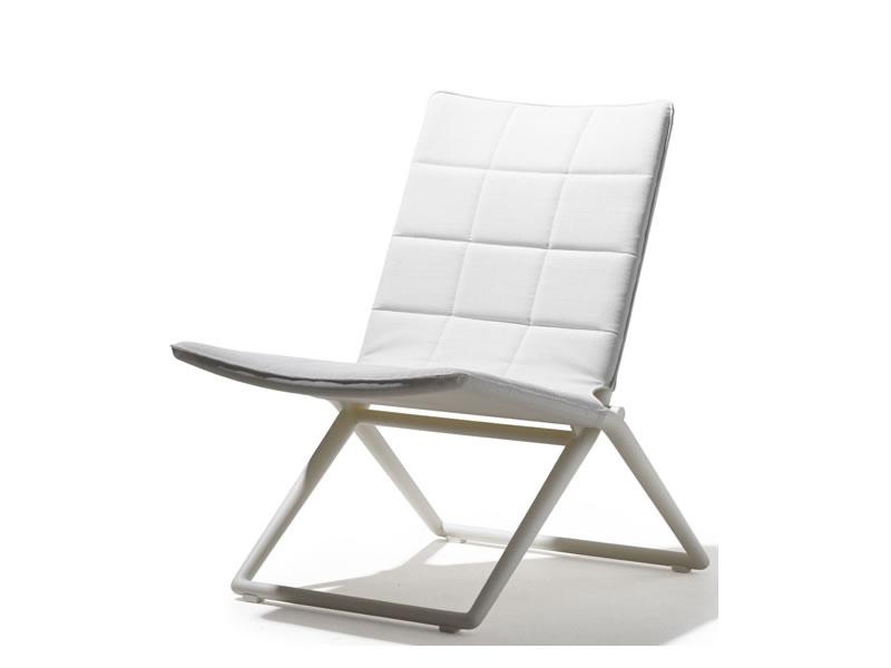 cane line traveller tex lounge stuhl klappbar wei. Black Bedroom Furniture Sets. Home Design Ideas