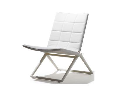 Cane-line Traveller Tex Lounge Stuhl, klappbar, weiß