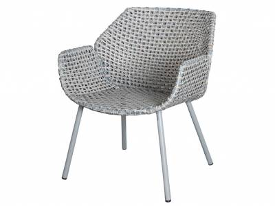 Cane-line Vibe Loungesessel, Light grey/grey/taupe