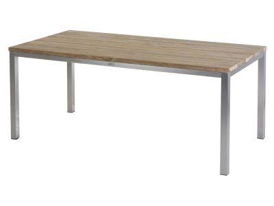 Diamond Garden Barletta Tisch 180 cm, Tischplatte Teakholz