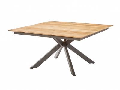 Diamond Garden Lyon Tisch 150 x 150 Fase – 4 Planken Dunkelgrau