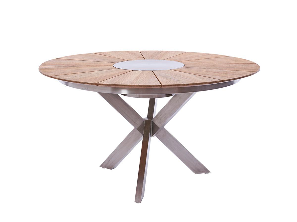 diamond garden lyon tisch 140 cm edelstahl recycled teak gartenm bel hamburg shop. Black Bedroom Furniture Sets. Home Design Ideas