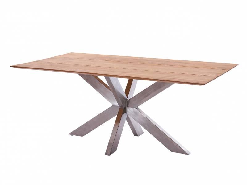 Diamond Garden Marbella Tischgestell Edelstahl 304+Tischplatte Marbella-Fase