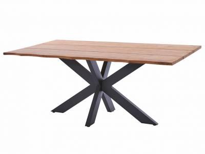 Diamond Garden Marbella Tischgestell Edelstahl-Dunkelgrau+Tischplatte Marbella-Baumkante