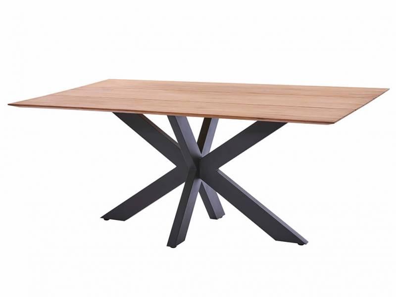 Diamond Garden Marbella Tischgestell Edelstahl-Dunkelgrau+Tischplatte Marbella-Fase