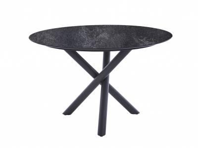 Diamond Garden San Marino Tisch Edelstahl Dunkelgrau, Tischplatte HPL Granit Dunkel 120 cm