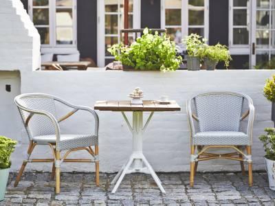 Sika Design AFFÄIRE Nicole Gartentisch, 70 x 70 cm, Teak-Tischplatte, 70 x 70 cm