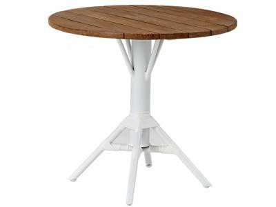 Sika Design AFFÄIRE Nicole Gartentisch, Teak-Tischplatte, Ø 80cm