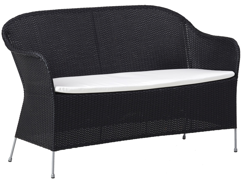 Sika Design AVANTGARDE Athene 2-Sitzer Sofa inkl. Kissen - Schwarz