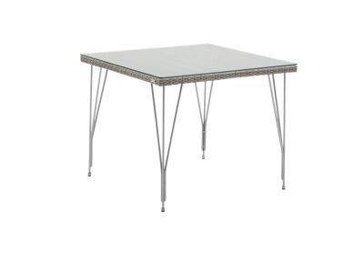 Sika Design AVANTGARDE Jupiter Gartentisch 90x90 cm, inkl. Glasplatte - Taupe