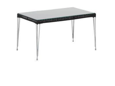Sika Design AVANTGARDE Mercur Couchtisch 60x100 cm, inkl. Glasplatte - Schwarz