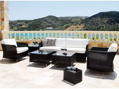 Sika Design AVANTGARDE Orion 3-Sitzer Sofa, inkl.Kissen - Schwarz