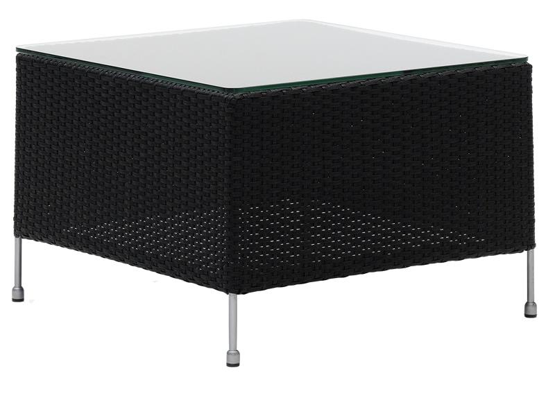 Sika Design AVANTGARDE Orion Couchtisch 60x60 cm, inkl. Glasplatte - Schwarz