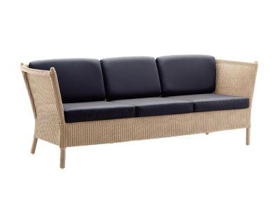 Sika Design CLASSIC 3-Sitzer Sofa Duo, Geflecht Loom Natur