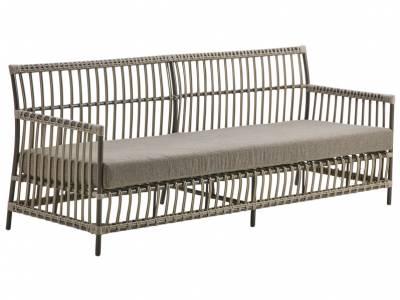 Sika Design EXTERIOR Caroline 3-Sitzer Sofa,  Mocaccino, inkl. Kissen, Alurattan