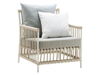 Sika Design EXTERIOR Caroline Lounge Sessel, Dove White, inkl. Kissen, Alurattan