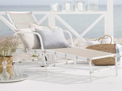 Sika Design EXTERIOR Josephine Sonnenliege, Dove white