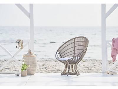 Sika Design EXTERIOR Luna Sunchair, Dove White